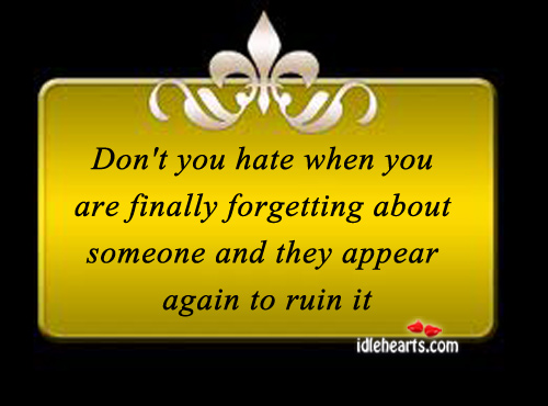 Don't you hate Hate Quotes Image