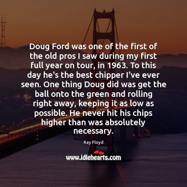 Doug Ford was one of the first of the old pros I Image