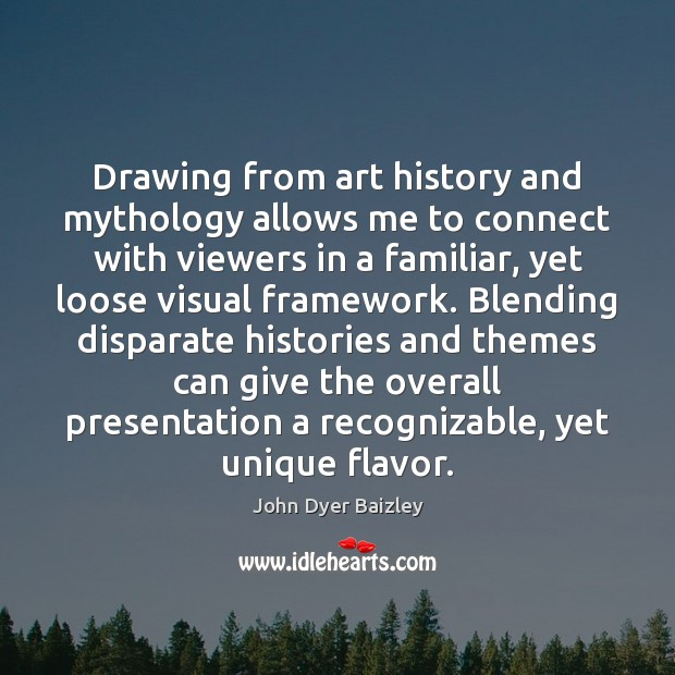 Image, Drawing from art history and mythology allows me to connect with viewers