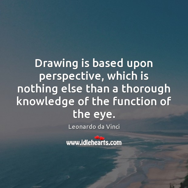 Drawing is based upon perspective, which is nothing else than a thorough Image