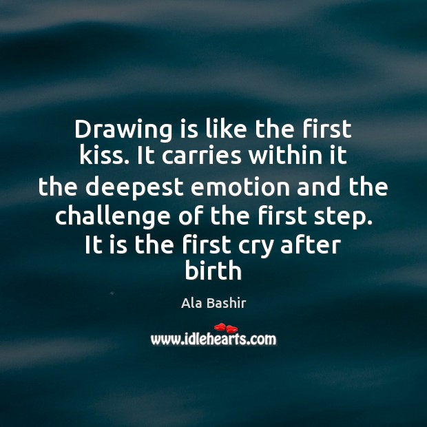 Image, Drawing is like the first kiss. It carries within it the deepest