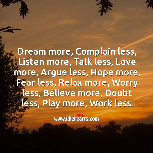 Image, Dream more… believe more and achieve more.