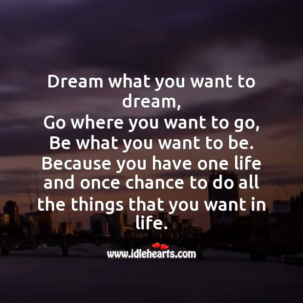 Image, Dream what you want to dream