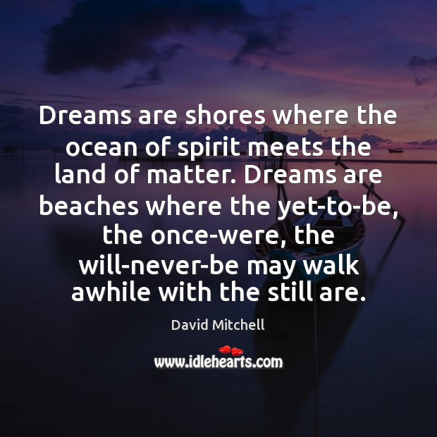 Dreams are shores where the ocean of spirit meets the land of Image