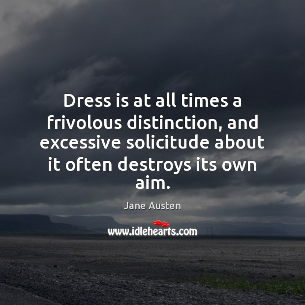 Image, Dress is at all times a frivolous distinction, and excessive solicitude about
