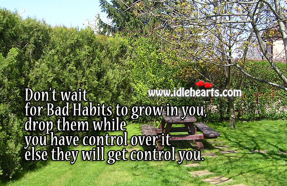 Drop the bad habits while you have control over them Moral Stories Image