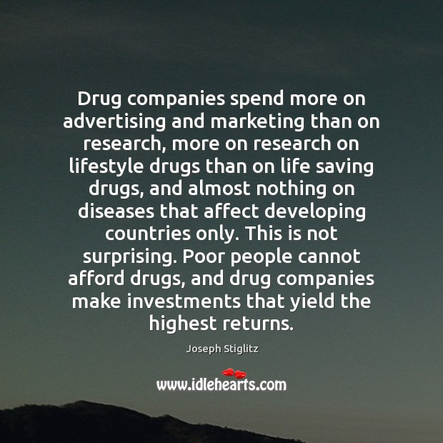 Image, Drug companies spend more on advertising and marketing than on research, more