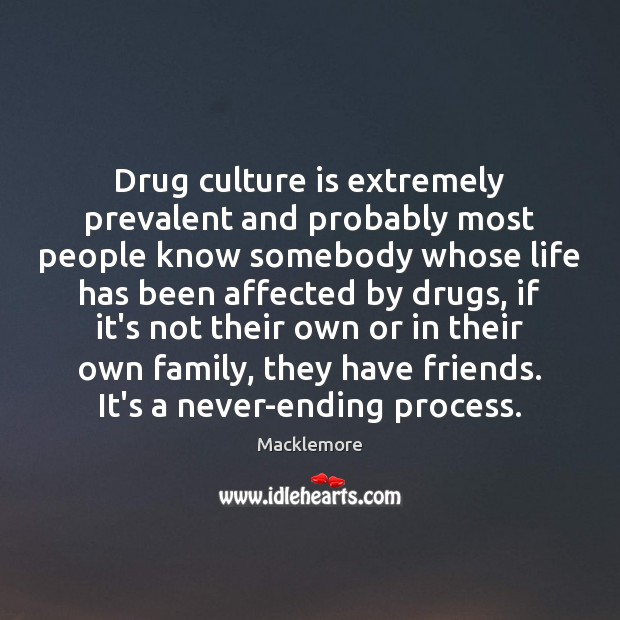 Image, Drug culture is extremely prevalent and probably most people know somebody whose