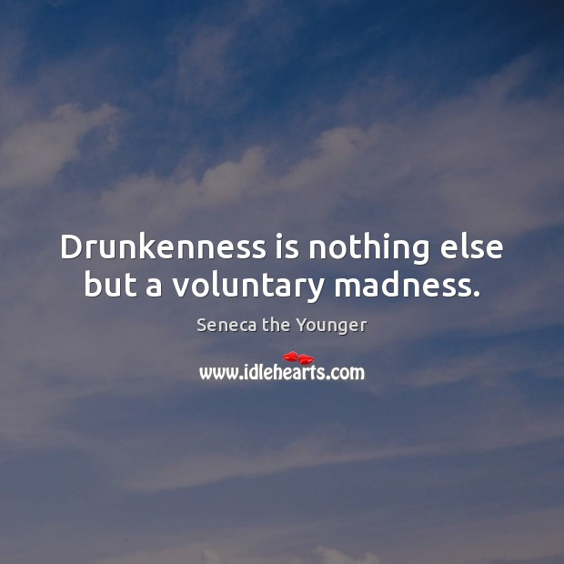 Drunkenness is nothing else but a voluntary madness. Image
