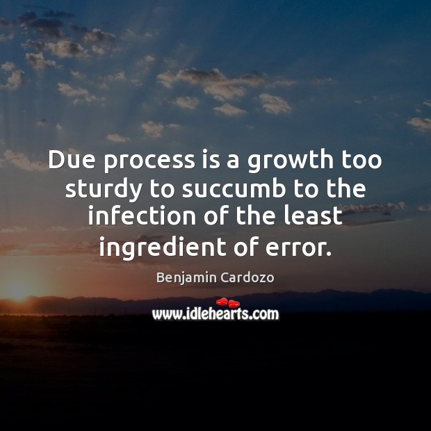 Image, Due process is a growth too sturdy to succumb to the infection