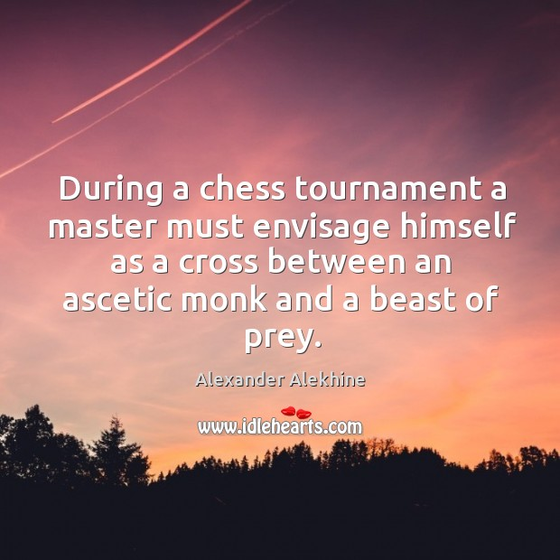 During a chess tournament a master must envisage himself as a cross Image