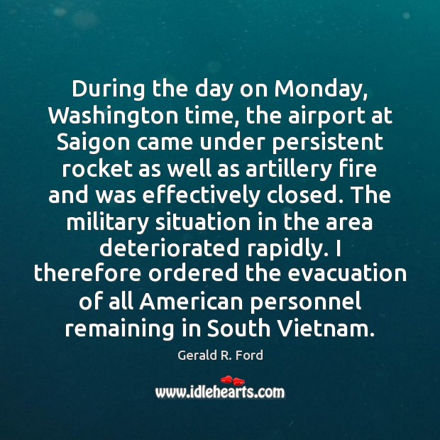 Image, During the day on Monday, Washington time, the airport at Saigon came