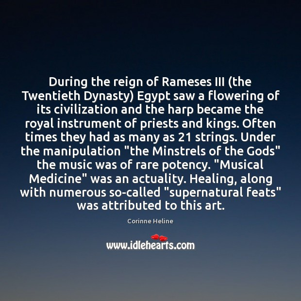 During the reign of Rameses III (the Twentieth Dynasty) Egypt saw a Image
