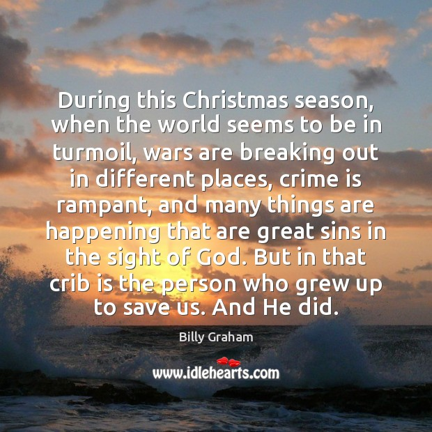 During this Christmas season, when the world seems to be in turmoil, Image