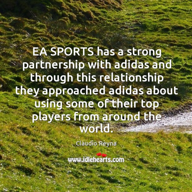 Image, Ea sports has a strong partnership with adidas and through this relationship they