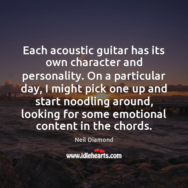 Each acoustic guitar has its own character and personality. On a particular Image