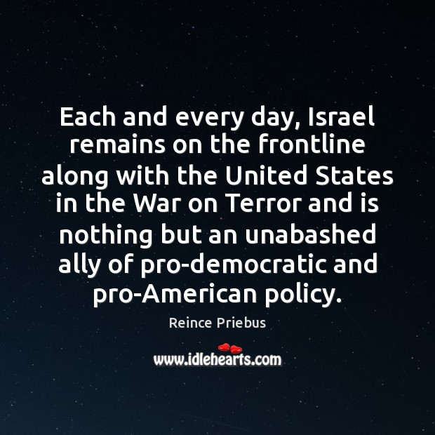 Image, Each and every day, Israel remains on the frontline along with the