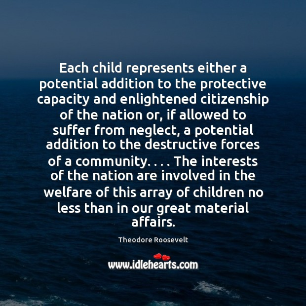 Each child represents either a potential addition to the protective capacity and Image