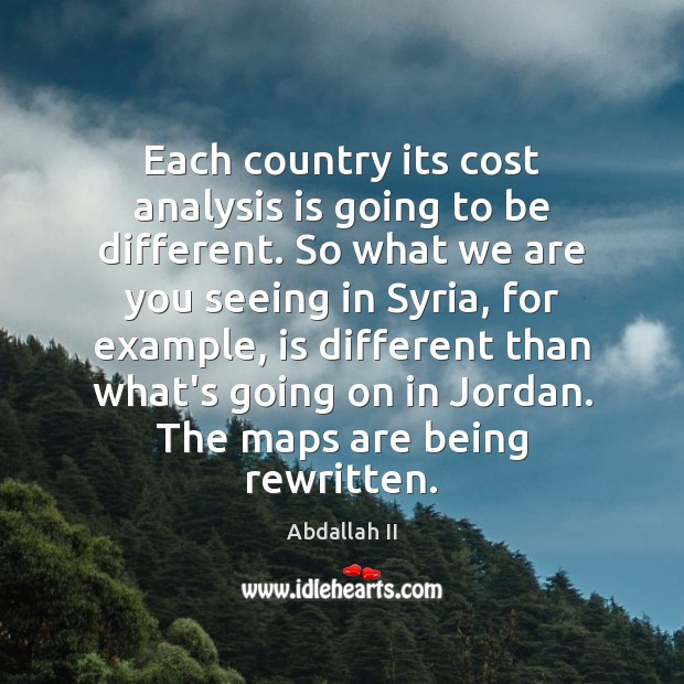 Image, Each country its cost analysis is going to be different. So what