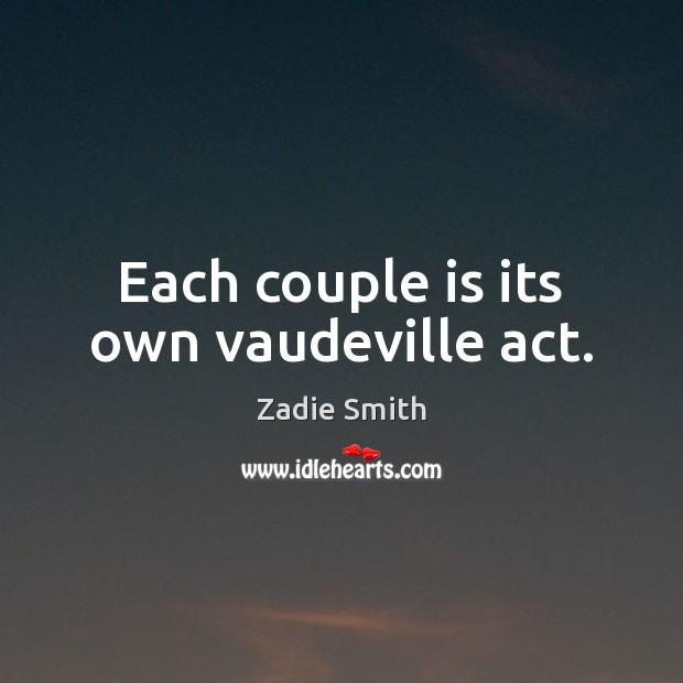 Each couple is its own vaudeville act. Image