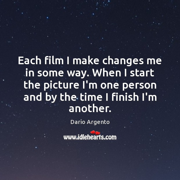 Picture Quote by Dario Argento