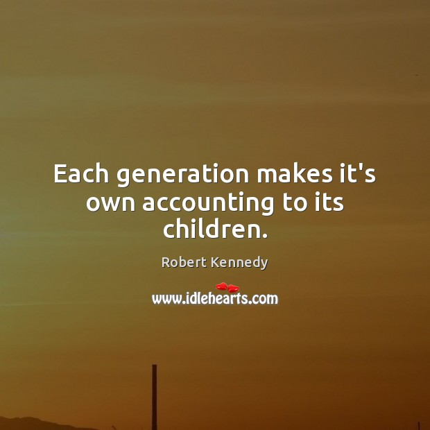 Each generation makes it's own accounting to its children. Image