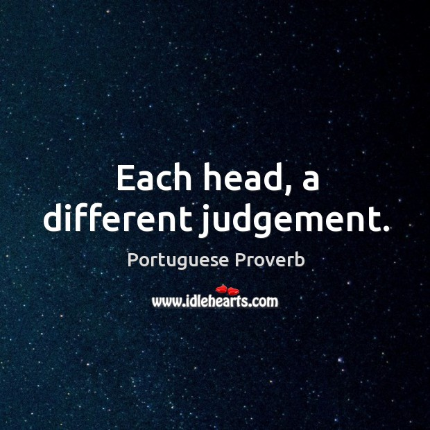 Each head, a different judgement. Image