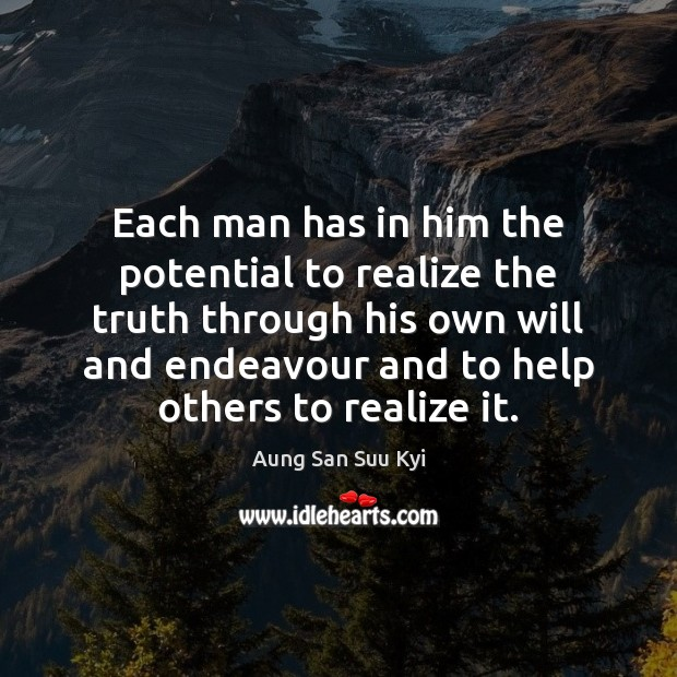Each man has in him the potential to realize the truth through Image