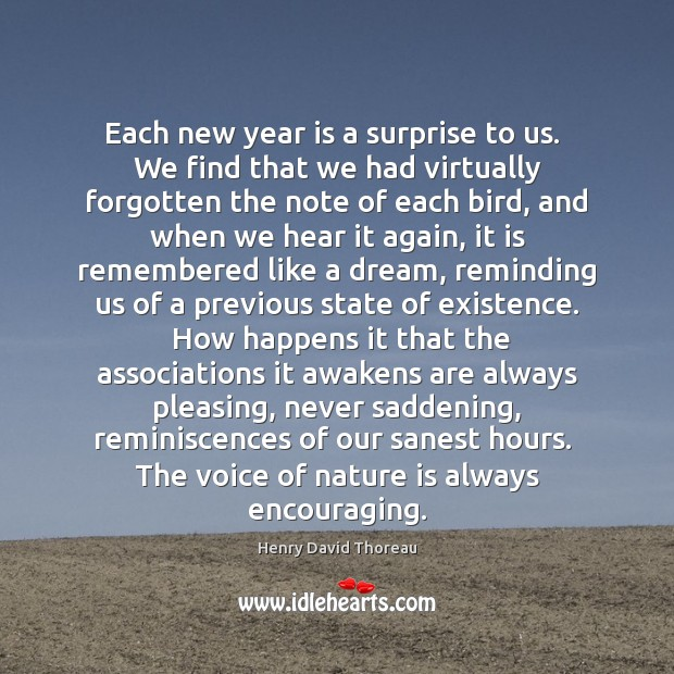 Image, Each new year is a surprise to us.  We find that we