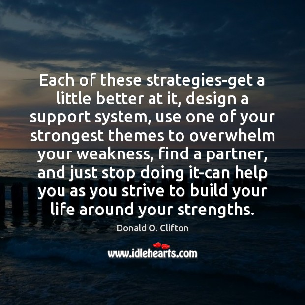 Each of these strategies-get a little better at it, design a support Image
