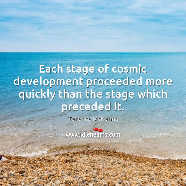 Each stage of cosmic development proceeded more quickly than the stage which preceded it. Image
