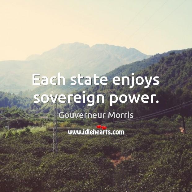Each state enjoys sovereign power. Image