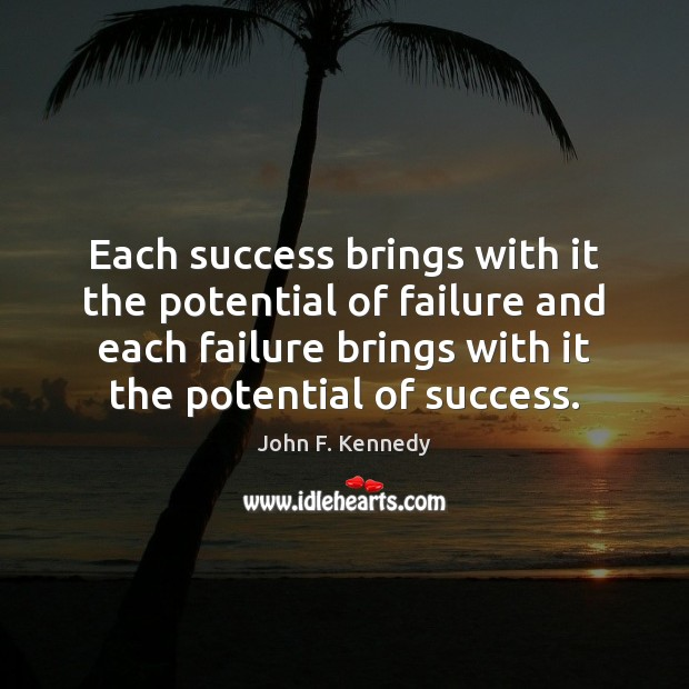 Image, Each success brings with it the potential of failure and each failure