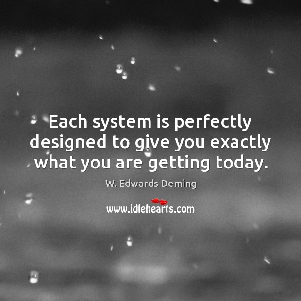 Each system is perfectly designed to give you exactly what you are getting today. Image