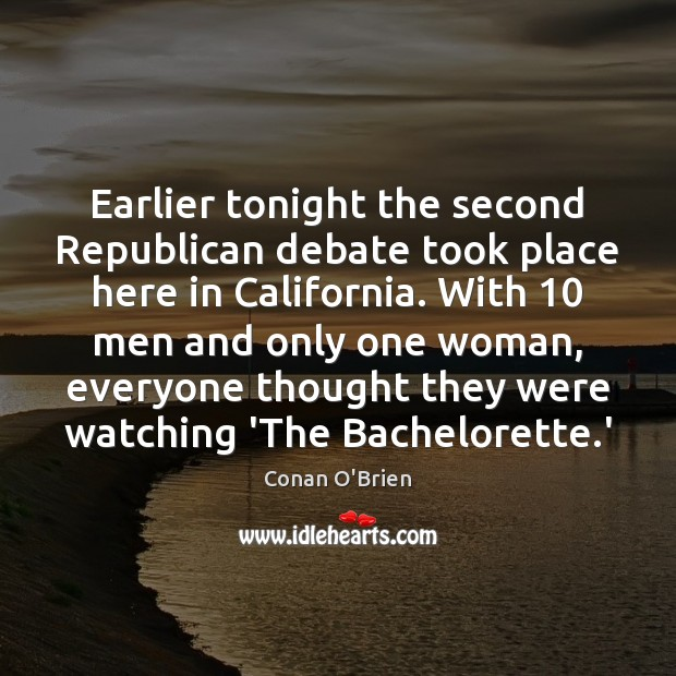 Image, Earlier tonight the second Republican debate took place here in California. With 10