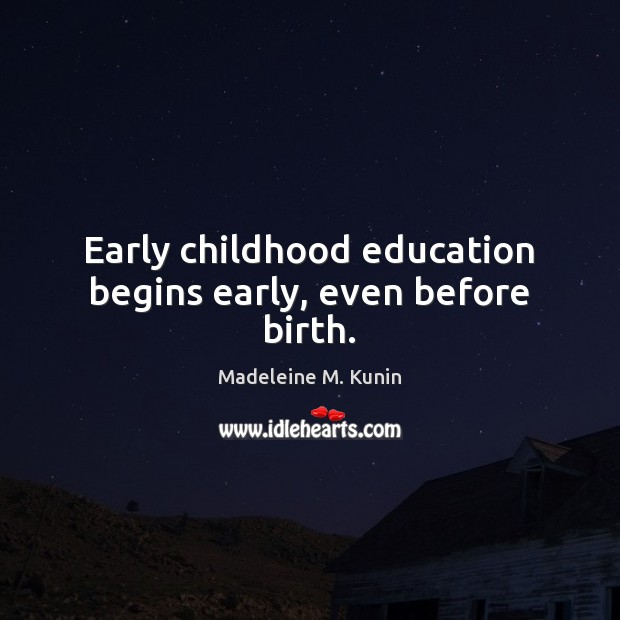 Early childhood education begins early, even before birth. Image
