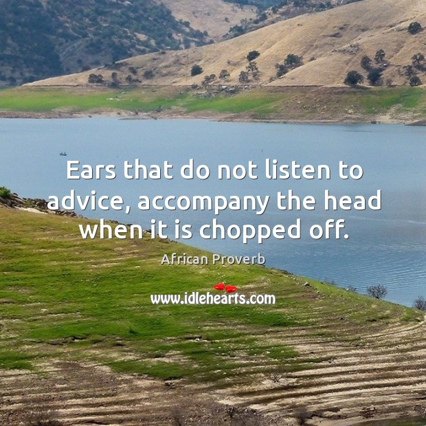 Image, Ears that do not listen to advice, accompany the head