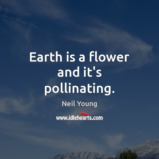 Earth is a flower and it's pollinating. Image