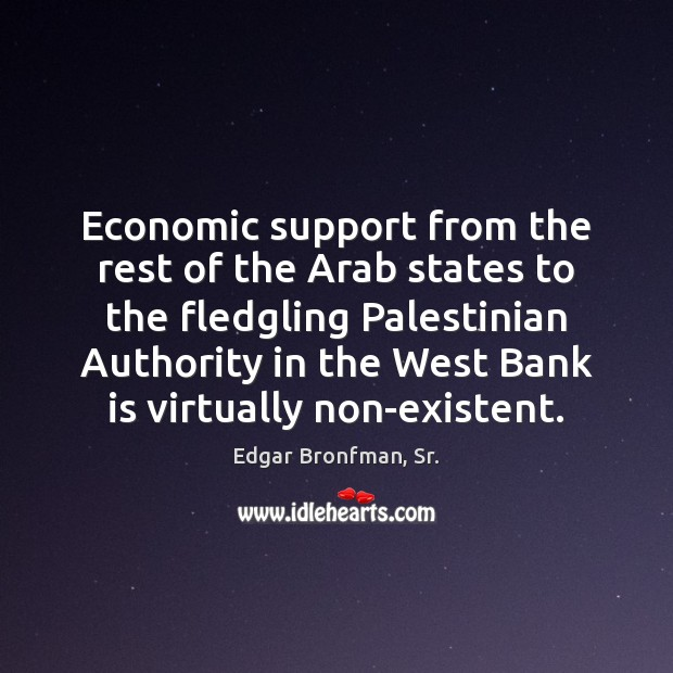 Economic support from the rest of the Arab states to the fledgling Image