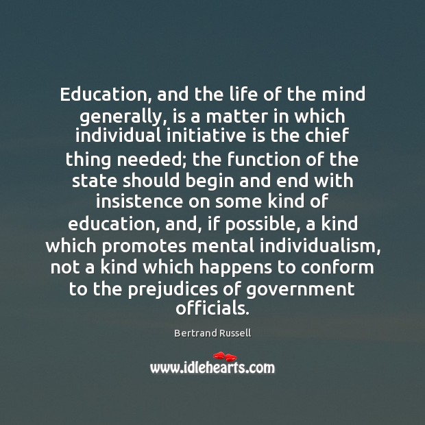 Image, Education, and the life of the mind generally, is a matter in