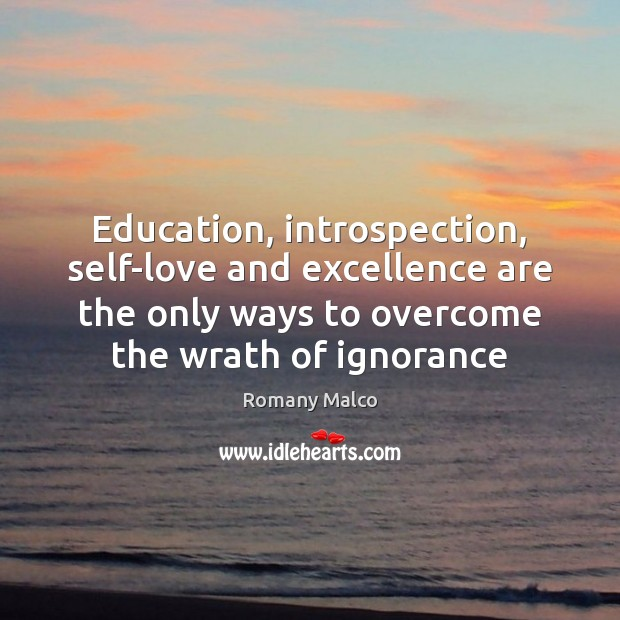 Education, introspection, self-love and excellence are the only ways to overcome the Romany Malco Picture Quote