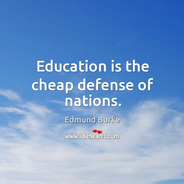 education is the chief defense of the nation The chief executive of europe's defense cooperation body is urging cyprus to forge  news in education  nation & world eu defense agency chief urges cyprus to.