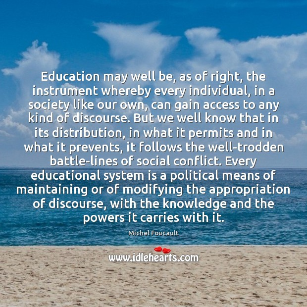 Education may well be, as of right, the instrument whereby every individual, Image