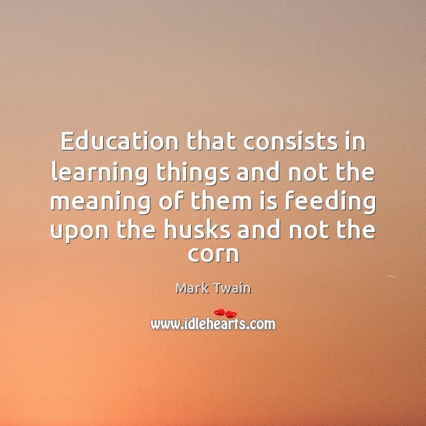 Education that consists in learning things and not the meaning of them Image