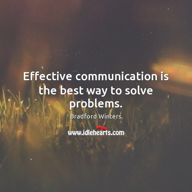 Image, Effective communication is the best way to solve problems.