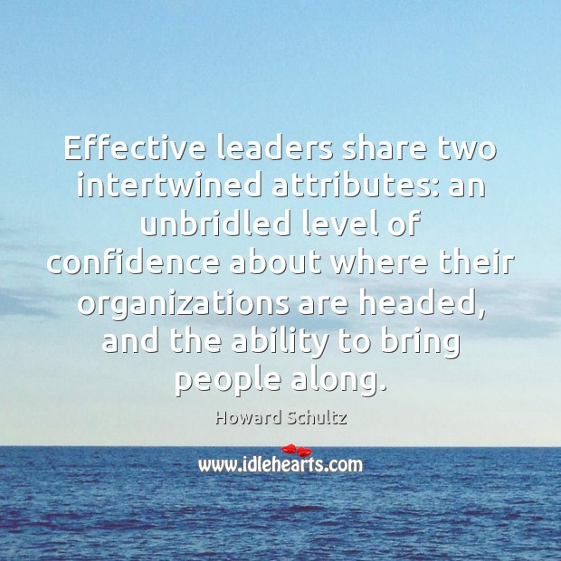 Effective leaders share two intertwined attributes: an unbridled level of confidence about Image