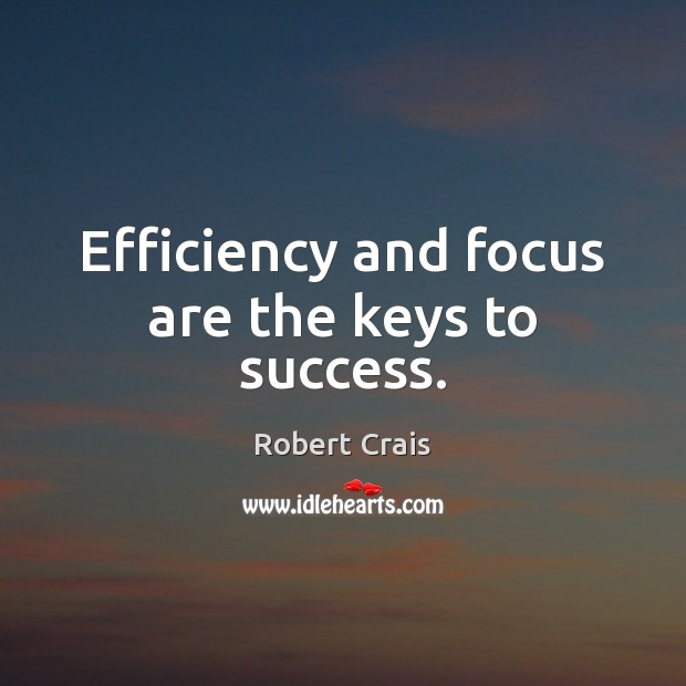 Efficiency and focus are the keys to success. Image