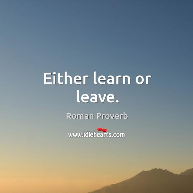 Roman Proverbs