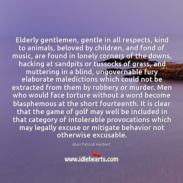 Image, Elderly gentlemen, gentle in all respects, kind to animals
