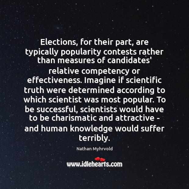 Image, Elections, for their part, are typically popularity contests rather than measures of